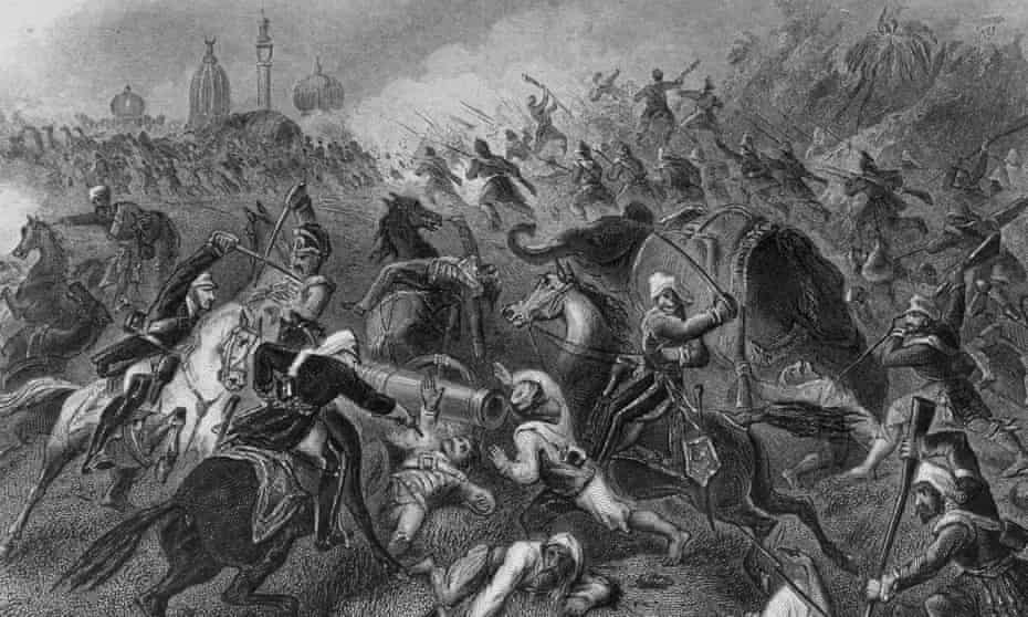 A depiction of the 1857 siege of Cawnpore.