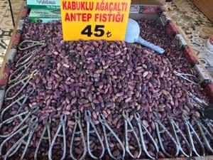 Pistachio nuts in Gaziantep