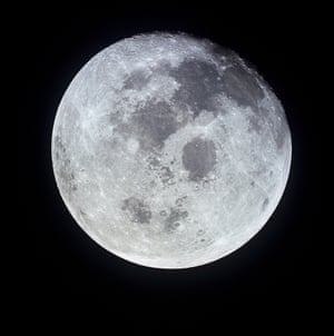 The full moon  photographed from the Apollo 11 spacecraft