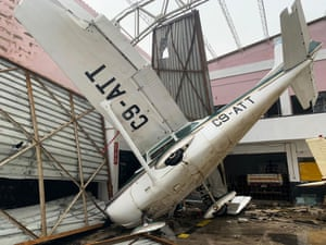 Damage at the airport in Beira. More than 1,000 people are feared dead in Mozambique.