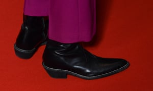 Timothée Chalamet wears high-heel boots at the premiere of Little Women in Paris.