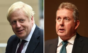 Kim Darroch (right) is understood to have made his decision after Boris Johnson stopped short of backing him on Tuesday.
