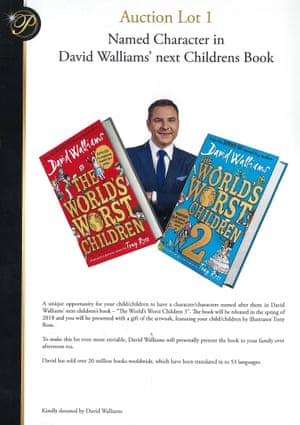 The David Walliams offer in the Presidents Club brochure.