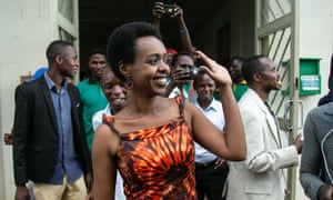 Diane Rwigara leaves the high court in Kigali on Thursday after judges found her not guilty of forgery and inciting insurrection.