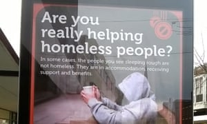 A poster campaign on homelessness by Gloucester city council