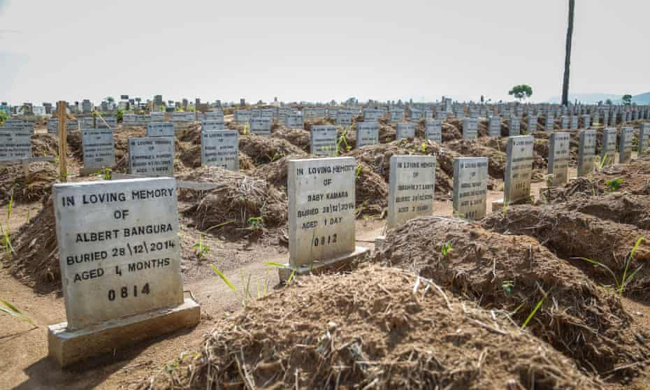 The graves of Ebola victims in Freetown, Sierra Leone. Failings by the World Health Organisation (WHO) played a key role in the Ebola disaster, according to new report.