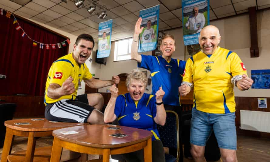 Members of the Ukrainian community centre in Coventry gear up for their team taking on England in the Euro 2020 quarter-finals