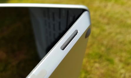The Surface connector on the right edge for power and an optional dock.