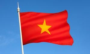 The flag of Vietnam
