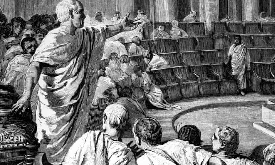 Cicero in the Roman senate