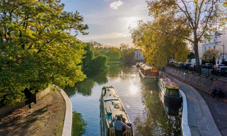 Scenery of Little Venice in London.