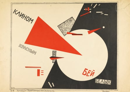 Beat the Whites with the Red Wedge, 1920 by El Lissitzy.