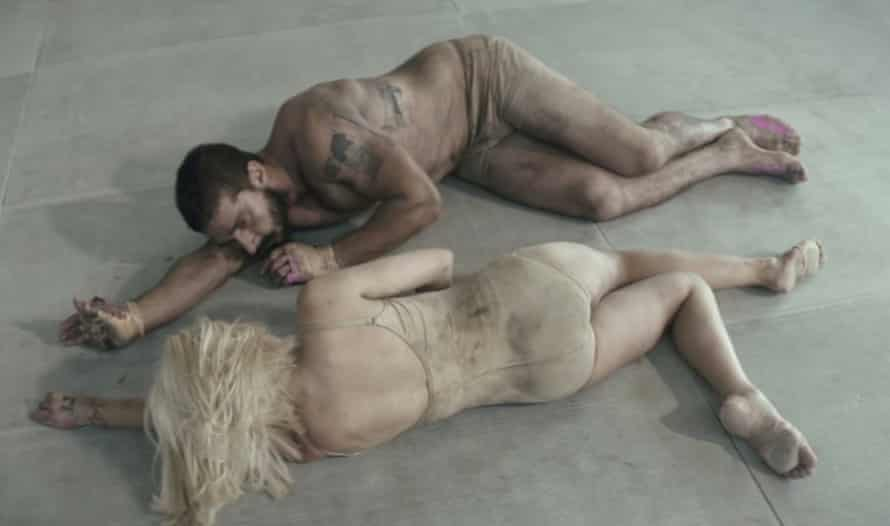 A still from the video clip for Elastic Heart by Sia with Maddie Ziegler and actor Shia LaBeouf