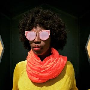 Adama Ndiaye poses for a portrait in Dakar, February 2018