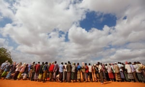 Newly arrived refugees at Dadaab, currently the biggest refugee complex in the world.
