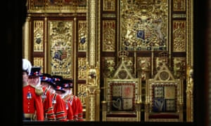 Members of the Yeoman Guard during the ceremonial search, ahead of the state opening of parliament.
