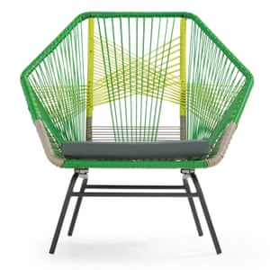 Green Copa garden chair set in poly rattan from made