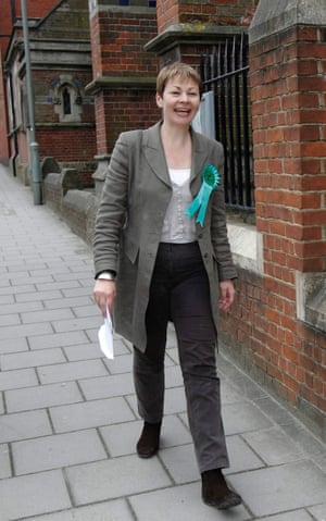 Green Party leader and candidate for Brighton Pavilion, Caroline Lucas