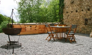 Cooking up a storm: the outdoor kitchen at Le Monteil.