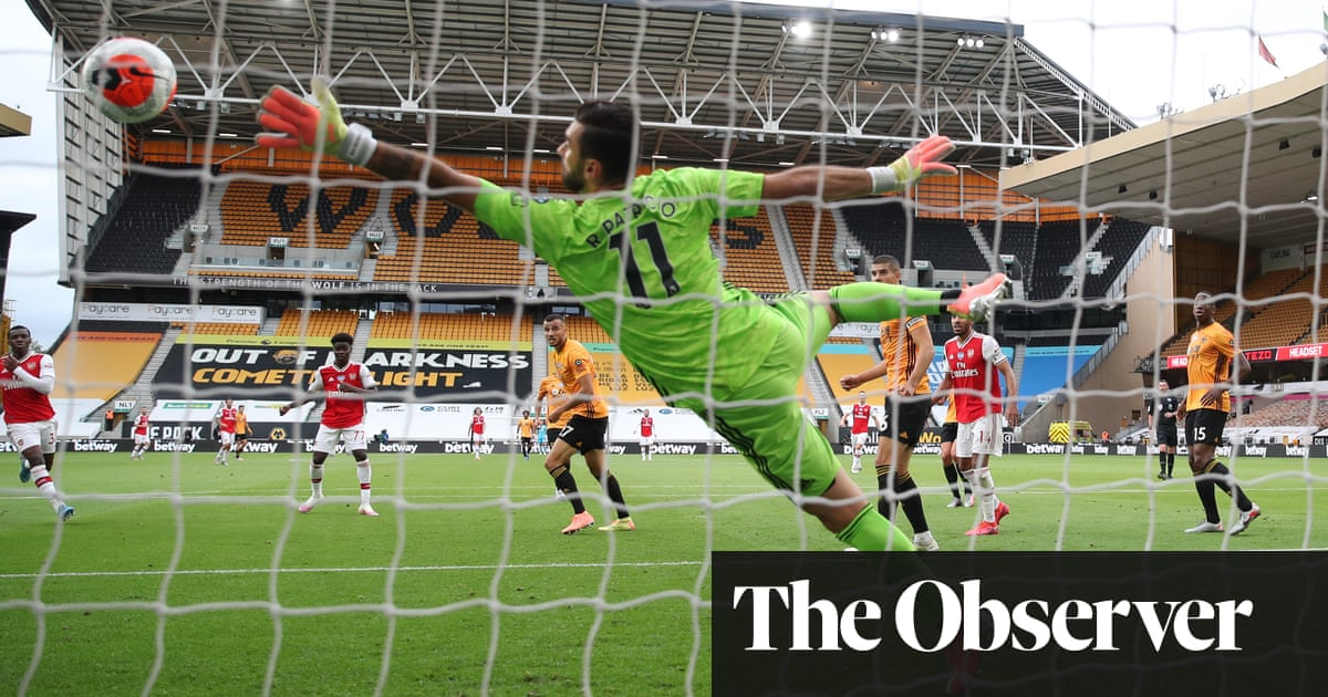 Bukayo Saka hooks home to cast new hope for Arsenal at Wolves