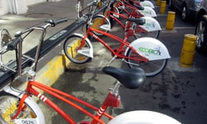 docking stations in four downtown Mexico City for ecobici bicycles