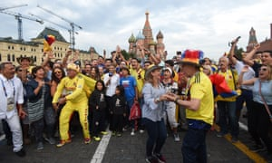 Colombia fans in Red Square, Moscow