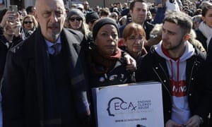 Alessandro Battaglia (right) with fellow abuse survivors and campaigners.