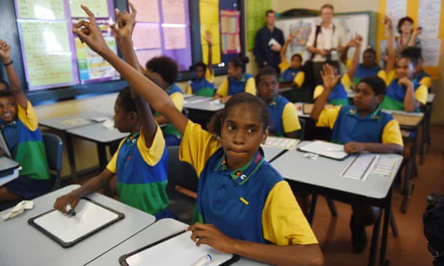 Students at Bamaga Junior School in Bamaga on the Northern Peninsula in 2015.