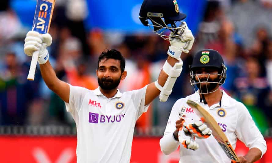 Ajinkya Rahane century gives India big lead over Australia in second Test | Australia sport | The Guardian