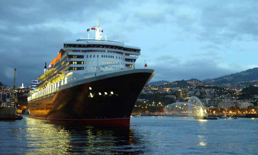 Funchal Harbour in Madeira is a regular stop-off for cruise ships en route from the West Indies to Britain.