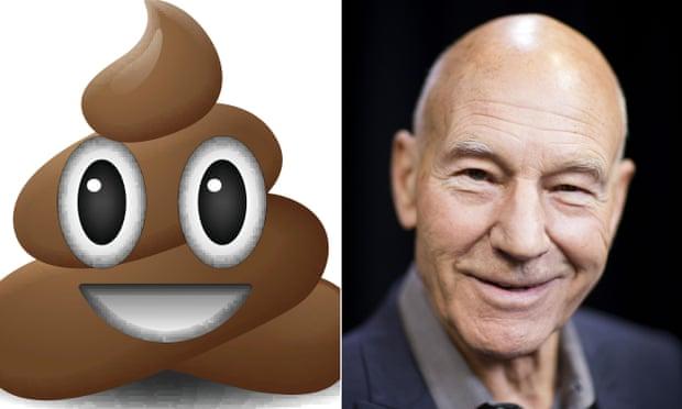 theguardian.com - Patrick Stewart to voice poo emoji in The Emoji Movie