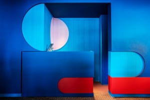 Sssshhhh … blue and red styling for the Library Lounge.