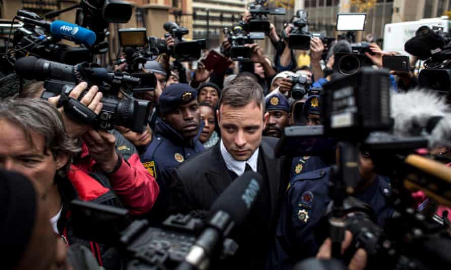 Oscar Pistorius at a sentencing hearing