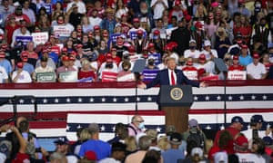 Donald Trump speaks at a campaign rally Tuesday in Winston-Salem, North Carolina.