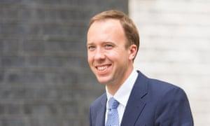 Cabinet Office minister Matthew Hancock