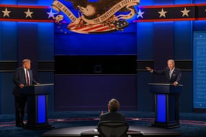 Joe Biden and Donald Trump face off in the first presidential debate on 29 September 2020.