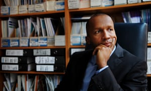 Bryan Stevenson at the Prison Reform Trust office in London.