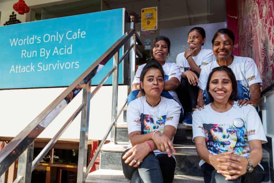 The women who run Sheroes Hangout cafe in Agra