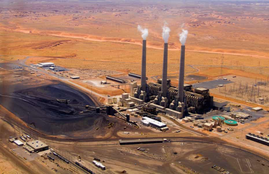 Power plant in Coconino county, where Navajo people account for 63% of cases, the death rate is eight-fold higher than the state average.