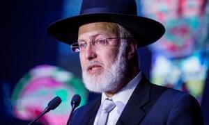 Gabriel Davidovich, the chief rabbi of the AMIA.