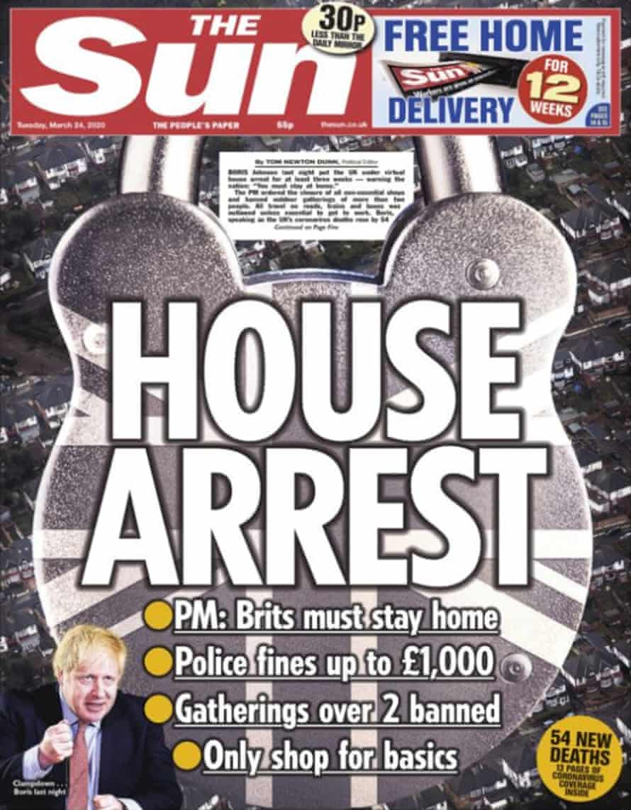 Sun front page 24 march 2020