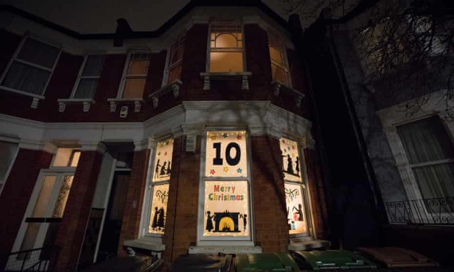 A different house reveals its display each night.