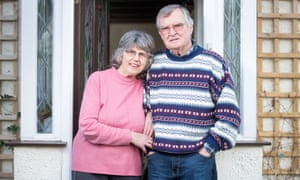 Tony Harding and his wife Christine outside their home near Bristol.