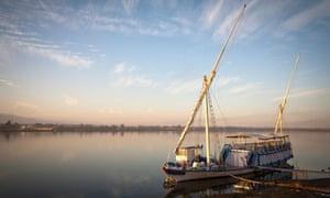 Plain sailing: a dahabiya on the Nile.