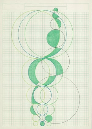 A drawing by Alison Turnbull, inspired by the Fibonacci sequence