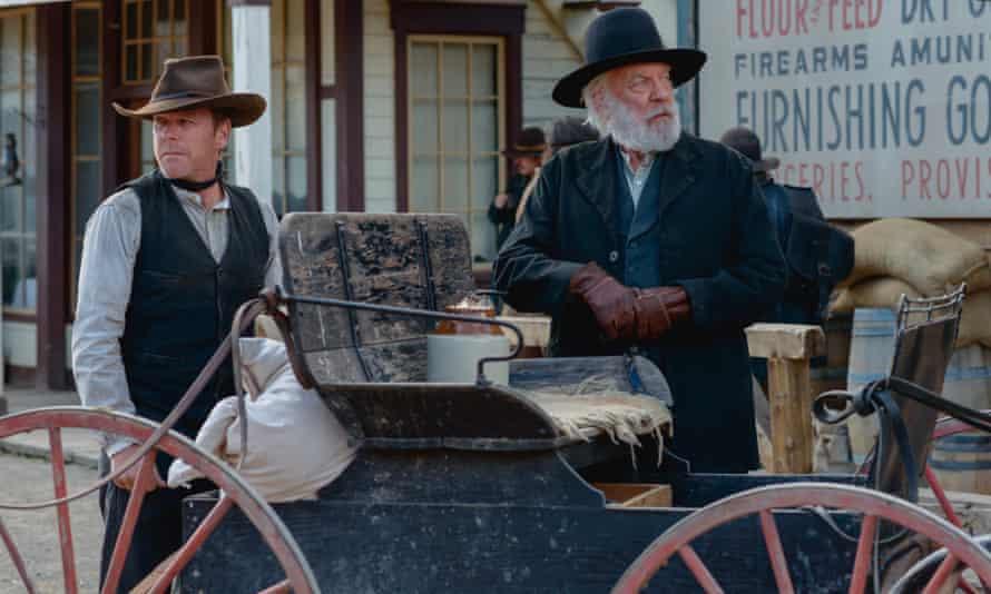 Kiefer, left, and Donald Sutherland in Forsaken.
