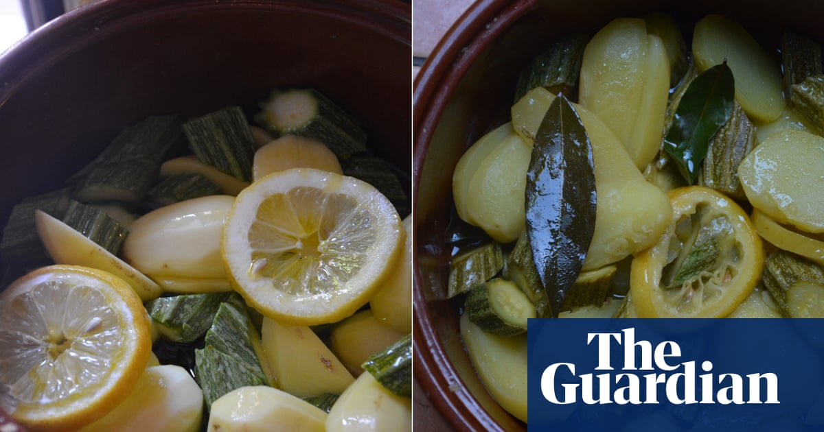 Rachel Roddy's recipe for courgette and potato in lemony olive oil