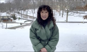 Sandra Oh managed to look incredibly stylish while cutting a very 'winter 2021' figure in the kind of padded jacket that is worn by everyone and their pet dog on the daily park walk. This was Golden Globes dressing at its most practical.