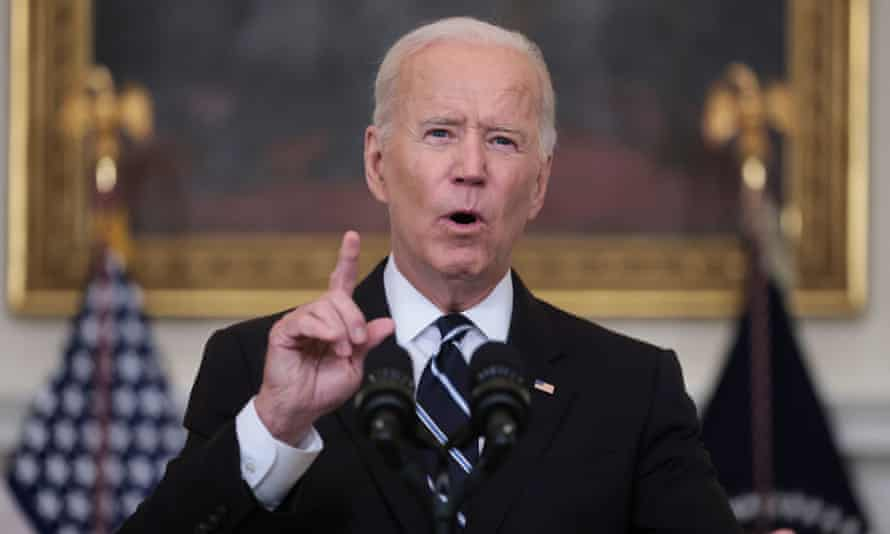 Joe Biden announces his plan to boost Covid-19 vaccinations at the White House in Washington last week.
