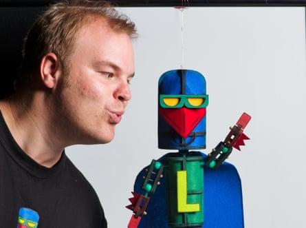 Tim Sharp and Laser Beak Man
